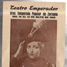 Libretos de ópera: TEATRO EMPERADOR. LEON. CHARITO LEONIS. GRAN COMPAÑIA LIRICA. ALADIO CUEVAS. 1952. LEER. Lote 42257730