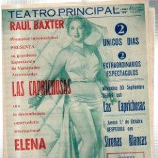 Libretos de ópera: TEATRO PRINCIPAL. LEON. RAUL BAXTER . LAS CAPRICHOSAS. ELENA DE CARLO. SIRENAS BLANCAS. LEER.. Lote 42257784