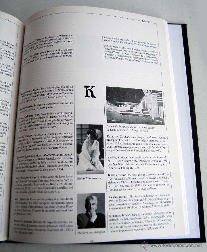 Libretos de ópera: OPERA COLLECTIOR DICCIONARIO DE ORBIS FABRI AÑO 1994 COLLECTION COLECCION - Foto 3 - 42465253