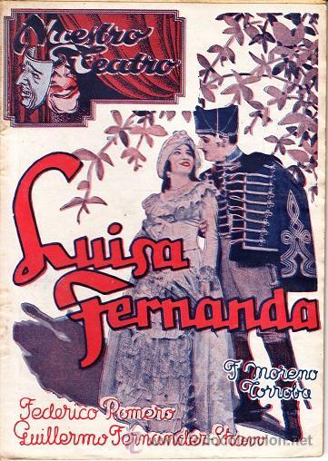 NUESTRO TEATRO Nº 4 - ZARZUELA LUISA FERNANDA - EDITORIAL ALAS 2 PTAS (Música - Libretos de Opera)