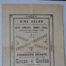 Libretos de ópera: FOLLETO, CINE SALON GRAN COMPAÑIA COMICO LIRICA DEL TEATRO DEL DUQUE DE SEVILLA. Lote 45101638