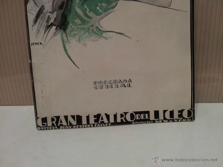 Libretos de ópera: gran teatro del liceo programa oficial 1926-1927 escelente estado - Foto 2 - 45464699