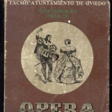 Livrets d'opéra: XXVIII TEMPORADA OFICIAL DE OPERA - MANON -EXMO AYUNTAMIENTO DE OVIEDO 1975. Lote 45946760