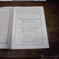 Libretti di opera: 3483.- GRAN TEATRE CASAL ESBARJO I CULTURA-VILAFRANCA-GRAN TEATRE DEL LICEU. Lote 46087071