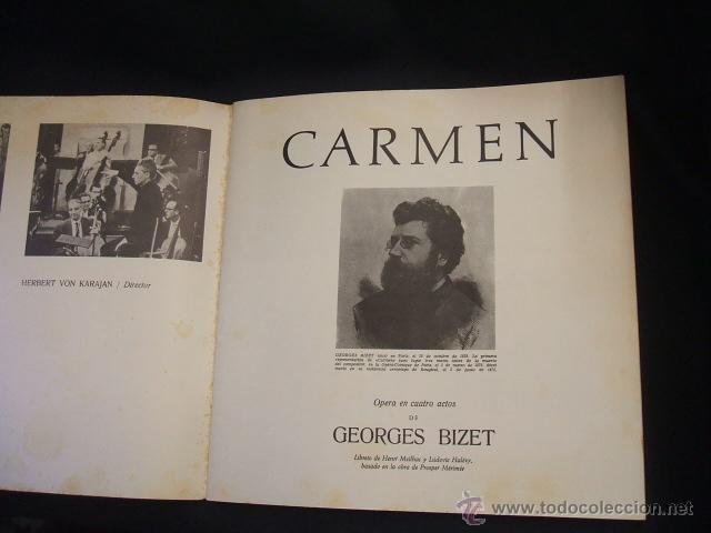 Libretos de ópera: LIBRETO DE LA OPERA CARMEN - FIRMADO POR MIRELLA FRENI - 1969 - Foto 4 - 46169294