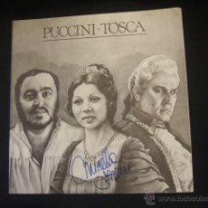 Libretos de ópera: LIBRETO DE LA OPERA TOSCA - GIACOMO PUCCINI - FIRMADO POR MIRELLA FRENI - . Lote 46169397