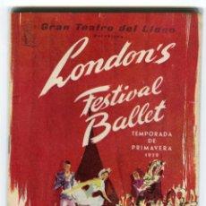 Libretos de ópera: GRAN TEATRO DEL LICEO BARCELONA LIBRO DE MANO TEMPORADA BALLET PRIMAVERA 1959. Lote 46318171