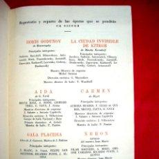 Libretos de ópera: LICEO - PROGRAMA 1932-1933 . Lote 46952493