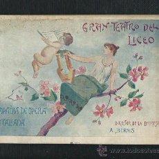 Libretos de ópera: GRAN TEATRO DEL LICEO COMPAÑIA DE OPERA ITALIANA. TRISTANO É ISOTTA. DEL MTRO. WAGNER. AÑO 1900.. Lote 47674971