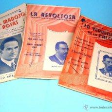 Libretos de ópera: 3 LIBRETOS ZARZUELA: MANOJO ROSAS, REVOLTOSA Y VERBENA PALOMA. ANTIGUOS #PV-R. Lote 57651176