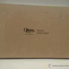 Libretos de ópera: OPERA NATIONAL DE PARIS. SAISON 2006 - 2007. 200 PAG. COMO NUEVO.. Lote 49696677