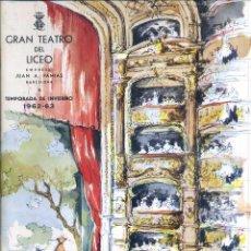 Libretos de ópera: GRAN TEATRO DEL LICEO - INVIERNO 1962 - 1963 - GRAN FORMATO. Lote 49857918