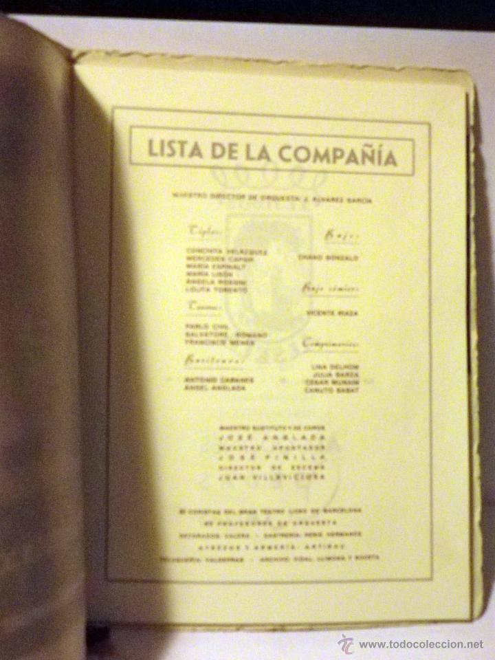 Libretos de ópera: PROGRAMA TEATRO PRINCIPAL, TEMPORADA OPERA 1944 - Foto 3 - 50316737