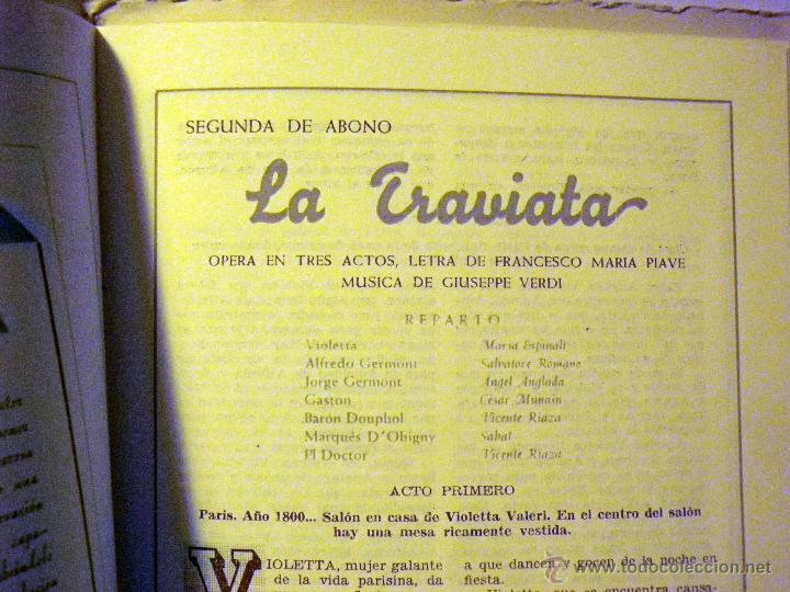 Libretos de ópera: PROGRAMA TEATRO PRINCIPAL, TEMPORADA OPERA 1944 - Foto 6 - 50316737