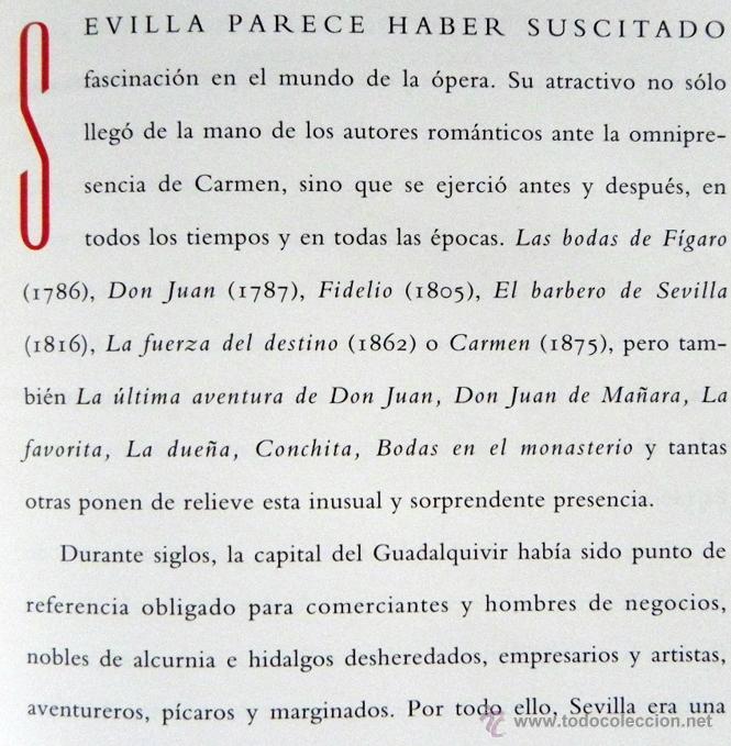Libretos de ópera: CARMEN DE GEORGES BIZET LIBRETO Y NOTAS ILUSTRADO - ÓPERA MÚSICA ARTE - SEVILLA EXPO92 EXPO 92 1992 - Foto 5 - 50830531