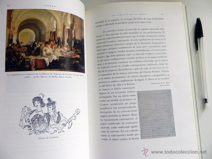 Libretos de ópera: CARMEN DE GEORGES BIZET LIBRETO Y NOTAS ILUSTRADO - ÓPERA MÚSICA ARTE - SEVILLA EXPO92 EXPO 92 1992 - Foto 6 - 50830531