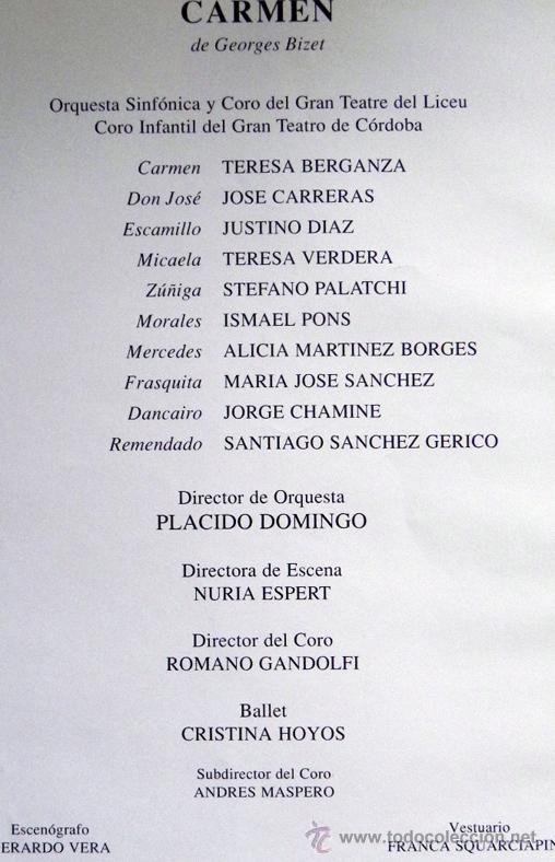 Libretos de ópera: CARMEN DE GEORGES BIZET LIBRETO Y NOTAS ILUSTRADO - ÓPERA MÚSICA ARTE - SEVILLA EXPO92 EXPO 92 1992 - Foto 9 - 50830531