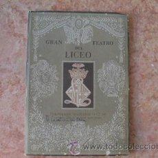 Libretos de ópera: GRAN TEATRO DEL LICEO BARCELONA,PROGRAMA TEMPORADA 1953-1954,I CAVALIERI DI EKEBU,DE ZANDONAI. Lote 51694309