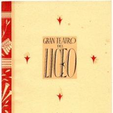 Libretos de ópera: GRAN TEATRO DEL LICEO=PROGRAMA OFICIAL 1942=LAS GOLONDRINAS=VER+FOTOS. Lote 51802308