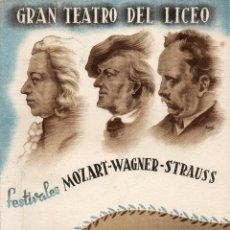 Libretos de ópera: GRAN TEATRO DEL LICEO=TEMPORADA 1941-42=LAS BODAS DE FIGARO=VER+FOTOS. Lote 51802466