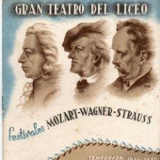 Libretos de ópera: GRAN TEATRO DEL LICEO=TEMPORADA 1941-42=VER+FOTOS. Lote 51802643
