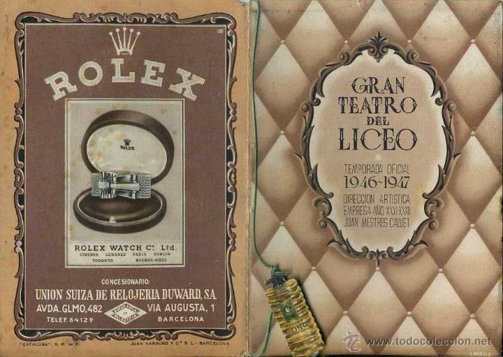 GRAN TEATRO DEL LICEO TEMPORADA 1946-47 : MEFISTOFELE (Música - Libretos de Opera)