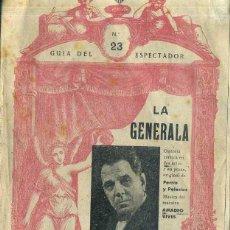 Libretos de ópera: AMADEO VIVES LA GENERALA. Lote 52450143