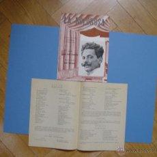Libretos de ópera: FOLLETO LIBRETO: ZARZUELA LA DOLOROSA (MADRID, 1950'S). ORIGINAL. COLECCIONISTA. ¡RARO!. Lote 52491853