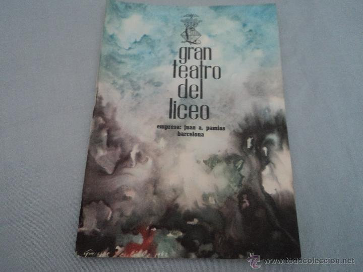 PROGRAMA DEL GRAN TEATRO DEL LICEO .- OPERA 1962-1963 OPERA EL TROVADOR (Música - Libretos de Opera)