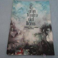 Libretos de ópera: PROGRAMA DEL GRAN TEATRO DEL LICEO .- OPERA 1962-1963 OPERA EL TROVADOR. Lote 52758420