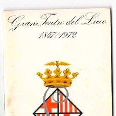 Livrets d'opéra: PROGRAMA TEATRO LICEO BARCELONA TEMPORADA OPERA 1971 - 1972. DON CARLOS. GIUSSEPE VERDI.. Lote 52842168
