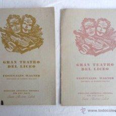 Libretos de ópera: 2 PROGRAMAS DEL LICEO DE BARCELONA. TEMPORADA INVIERNO 1940-41.. Lote 53619826
