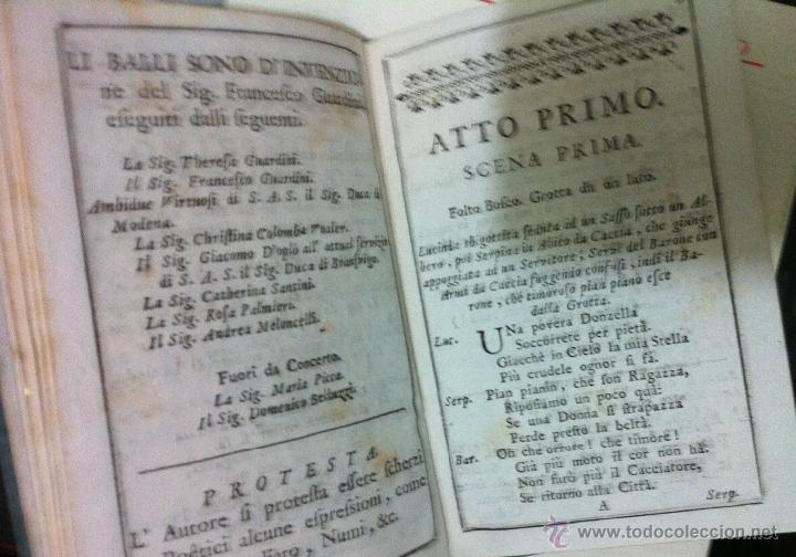 Libretos de ópera: Nicolò Piccini. Il barone di Torreforte. Barcelona. 1765 - Foto 8 - 49083800