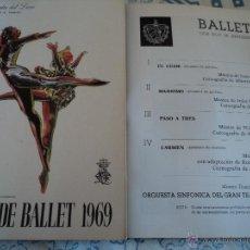 Livrets d'opéra: PROGRAMA GRAN TEATRO DEL LICEO DE BARCELONA 1969 FESTIVAL DE BALLET NACIONAL DE CUBA ALICIA ALONSO. Lote 54988061