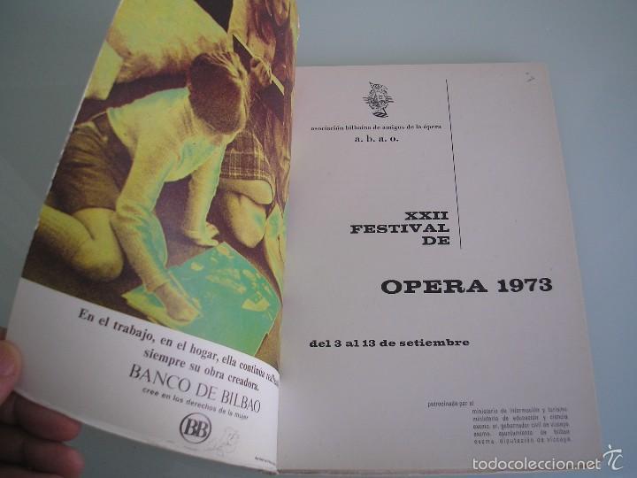 Libretos de ópera: Il Barbiere di Siviglia - Gioacchino Rossini - XXII Festival de Ópera - A. B. A. O - Bilbao 1973 - Foto 3 - 56188996