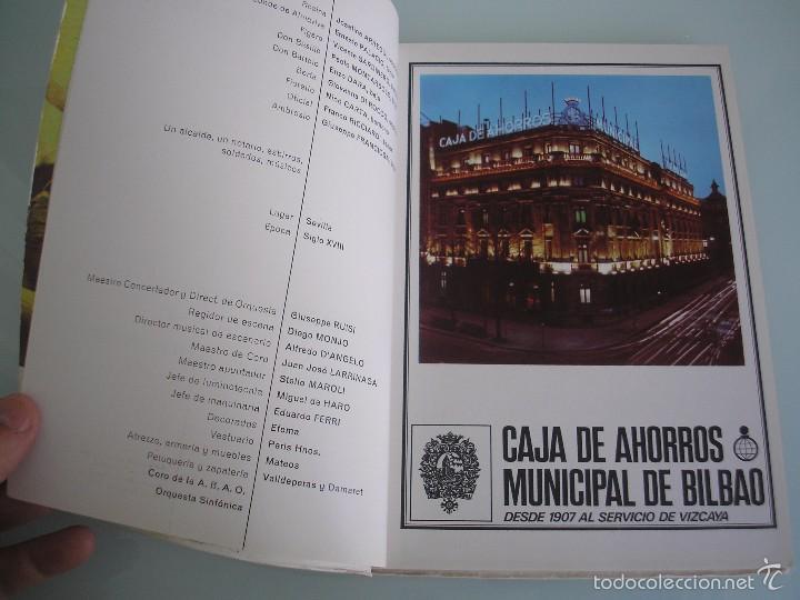 Libretos de ópera: Il Barbiere di Siviglia - Gioacchino Rossini - XXII Festival de Ópera - A. B. A. O - Bilbao 1973 - Foto 5 - 56188996