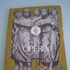 Libretos de ópera: IL BARBIERE DI SIVIGLIA - GIOACCHINO ROSSINI - XXII FESTIVAL DE ÓPERA - A. B. A. O - BILBAO 1973. Lote 56188996