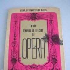 Livrets d'opéra: LA FORZA DEL DESTINO - GIUSSEPE VERDI - XXIX TEMPORADA OFICIAL DE ÓPERA - OVIEDO 1976. Lote 56189240