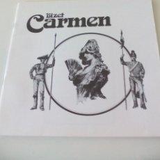 Libretos de ópera: CARMEN BIZET. LIBRETO OPERA. DECCA 1978. 35 PÁGINAS. LIBRETTO. Lote 56605165
