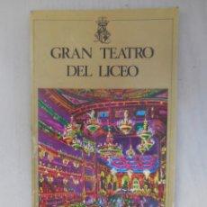 Libretos de ópera: OPERA EN EL LICEO. Lote 57541297