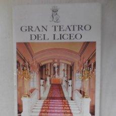 Libretos de ópera: OPERA EN EL LICEO. Lote 57541320