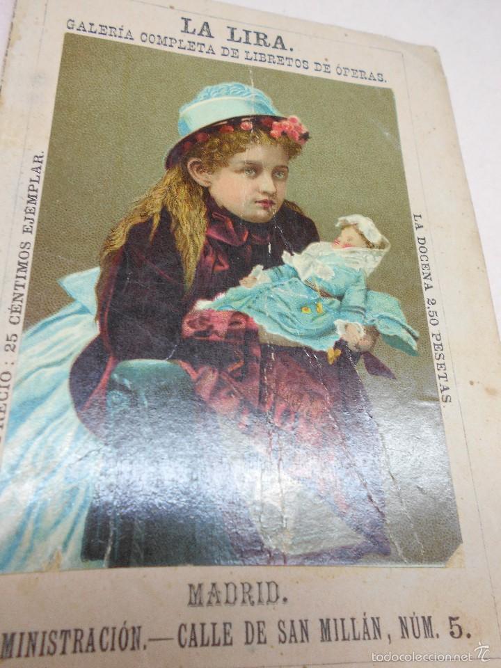 RICARDO WAGNER: LOHENGRIN. GRANDE OPERA ROMANTICA LA LIRA GALERÍA DE LIBRETOS DE OPERA 1881, 16 PAGS (Música - Libretos de Opera)