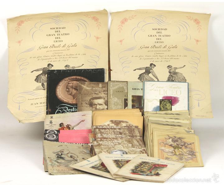 7728 - LOTE DE 41 PROGRAMAS MÁS 2 CARTELES DEL TEATRO DEL LICEO(VER DESCRIP). 1948/1956. (Música - Libretos de Opera)