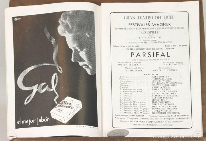 Libretos de ópera: 7728 - LOTE DE 41 PROGRAMAS MÁS 2 CARTELES DEL TEATRO DEL LICEO(VER DESCRIP). 1948/1956. - Foto 3 - 57768042