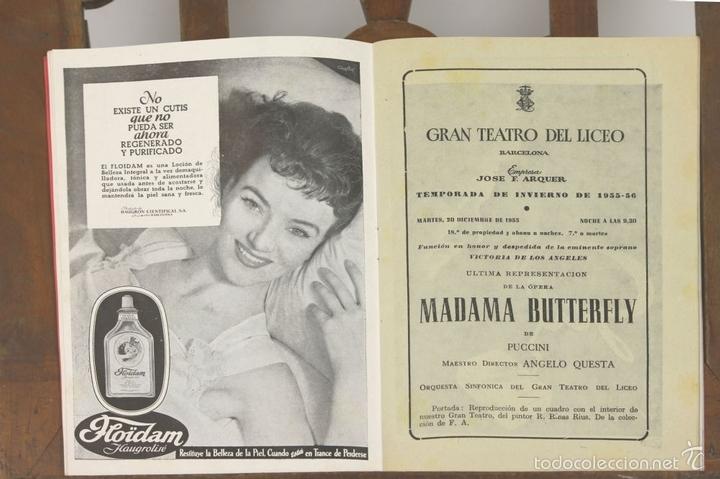 Libretos de ópera: 7728 - LOTE DE 41 PROGRAMAS MÁS 2 CARTELES DEL TEATRO DEL LICEO(VER DESCRIP). 1948/1956. - Foto 4 - 57768042