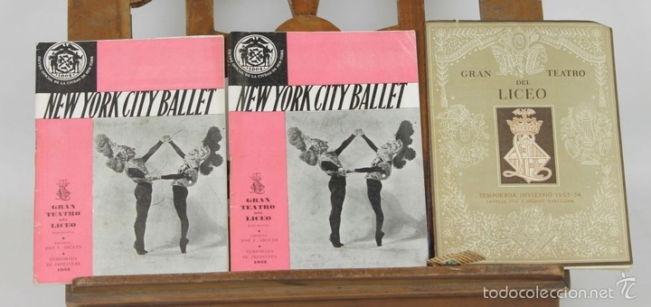 Libretos de ópera: 7728 - LOTE DE 41 PROGRAMAS MÁS 2 CARTELES DEL TEATRO DEL LICEO(VER DESCRIP). 1948/1956. - Foto 5 - 57768042