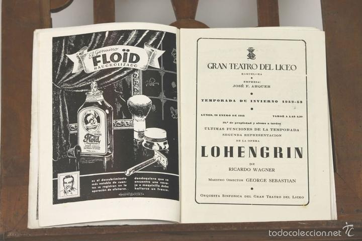Libretos de ópera: 7728 - LOTE DE 41 PROGRAMAS MÁS 2 CARTELES DEL TEATRO DEL LICEO(VER DESCRIP). 1948/1956. - Foto 6 - 57768042