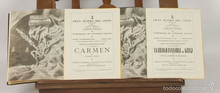 Libretos de ópera: 7728 - LOTE DE 41 PROGRAMAS MÁS 2 CARTELES DEL TEATRO DEL LICEO(VER DESCRIP). 1948/1956. - Foto 12 - 57768042