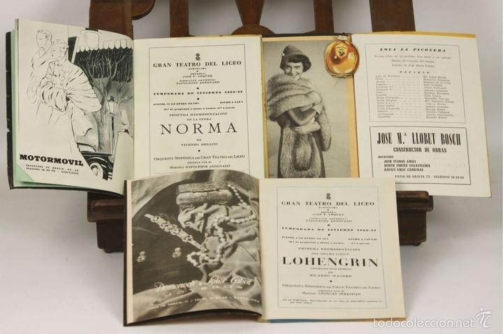 Libretos de ópera: 7728 - LOTE DE 41 PROGRAMAS MÁS 2 CARTELES DEL TEATRO DEL LICEO(VER DESCRIP). 1948/1956. - Foto 13 - 57768042