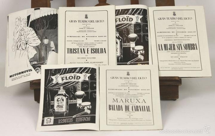 Libretos de ópera: 7728 - LOTE DE 41 PROGRAMAS MÁS 2 CARTELES DEL TEATRO DEL LICEO(VER DESCRIP). 1948/1956. - Foto 15 - 57768042